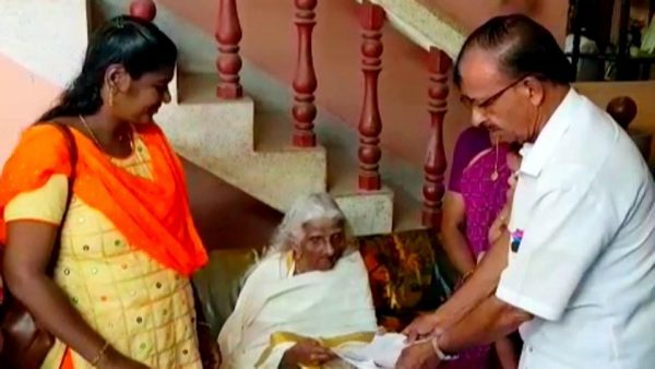105-year-old Bhageerathi Amma Clears Fourth Standard Equivalency Examination In Kerala