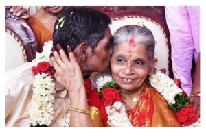Old Age Home Residents Tie Knot