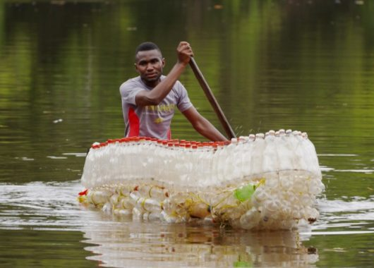 a-young-eco-warrior-in-cameroon-makes-boats-from-waste-plastic-bottles