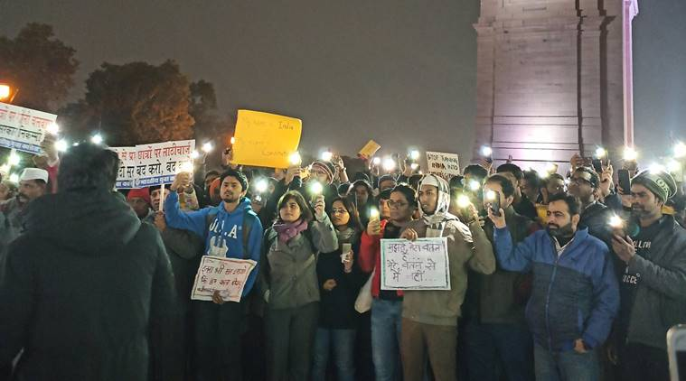 Protests at India Gate