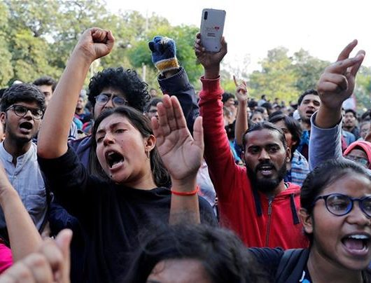 student protests india, political opinion privilege