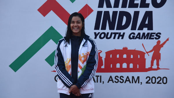 Assam Swimmer Shivangi Sarma in Khelo India Youth Games