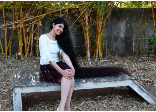 india's-own-rapunzel-nilanshi-patel,-teen-with-longest-hair-in-the-world