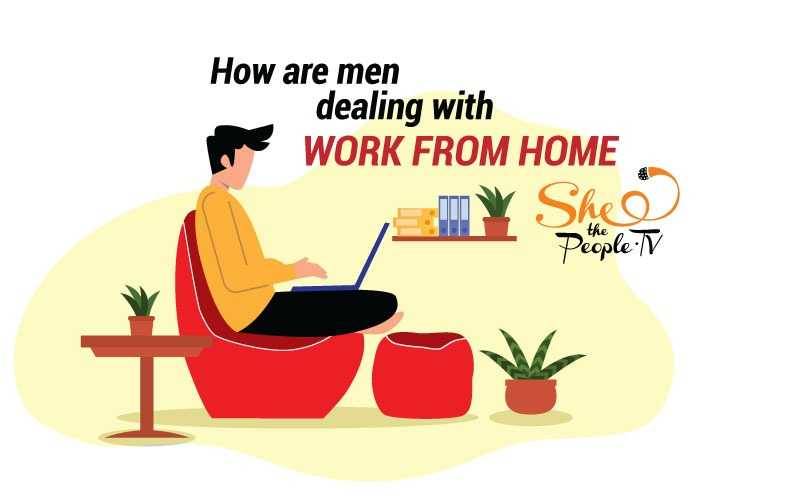 men work from home