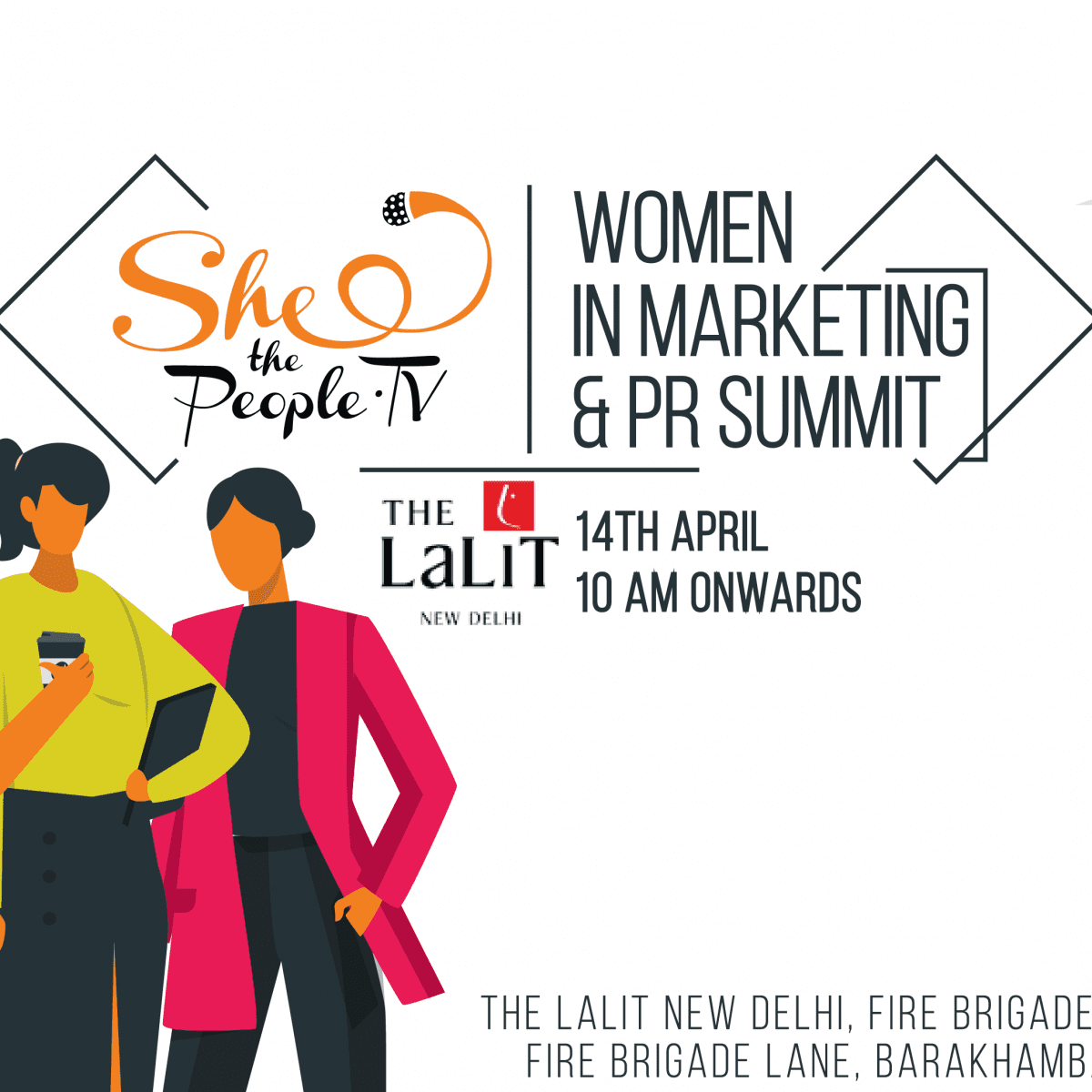Women in Marketing & PR Summit on 14th April at The Lalit