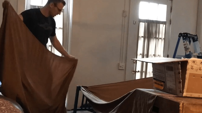 man builds confort castle for wife