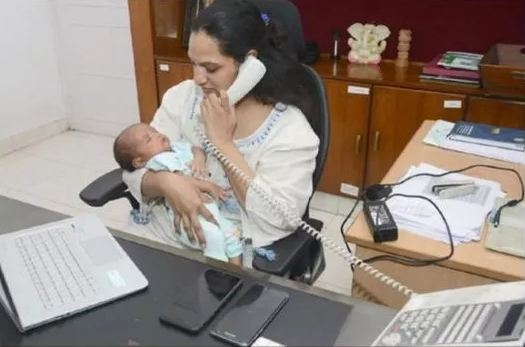 corona-warriors:-ias-officer-returns-to-work-with-infant-baby