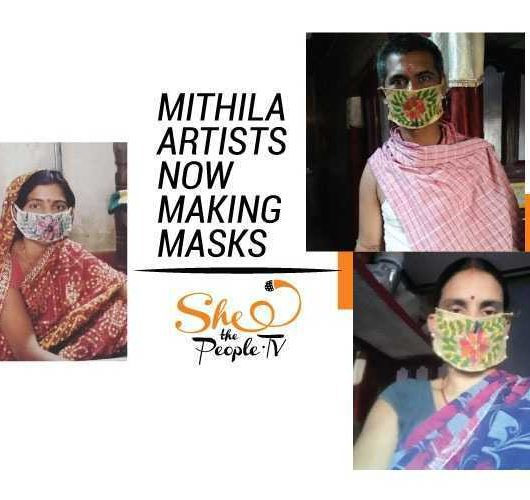 mithila artists masks