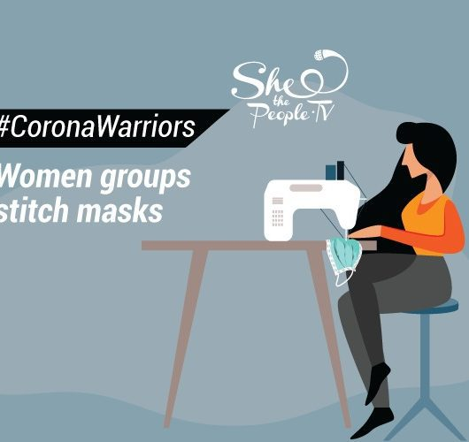 Women groups stitch masks