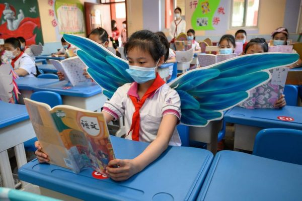China Students Wear DIY Wings