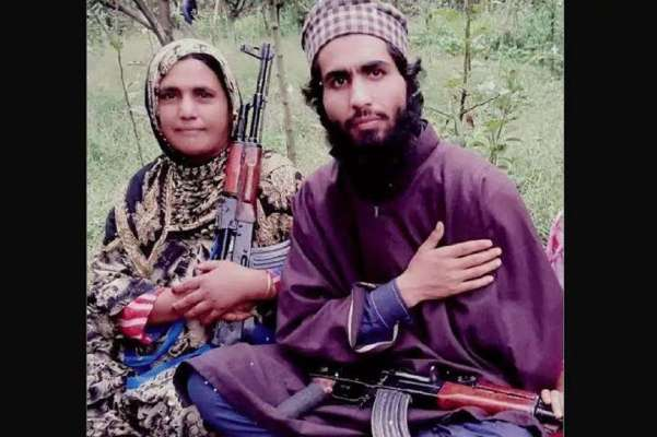 Naseema Bano, the Kashmir Gun Woman who is said to be the mother of a deceased terrorist