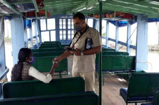 kerala student on ferry