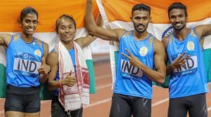 Hima Das Mixed Relay
