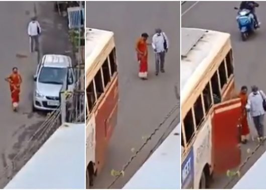 this-video-of-kerala-woman-helping-visually-impaired-man-board-the-bus-is-winning-hearts