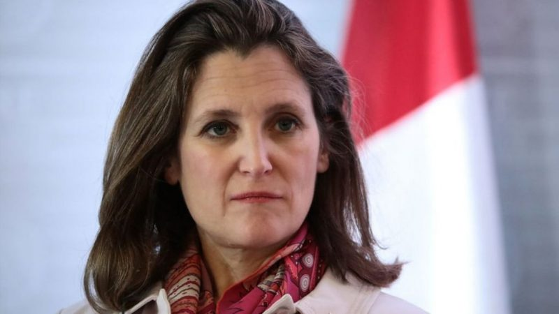 Chrystia Freeland finance Minister of Canada