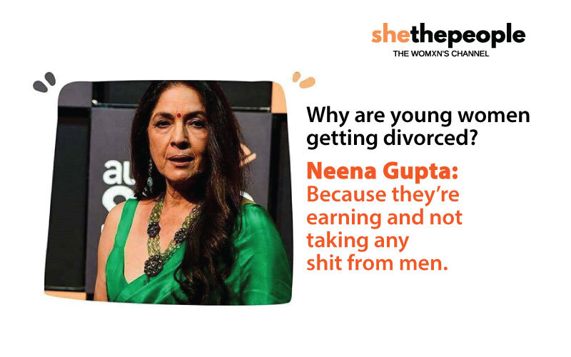 women adjust bad marriage, neena gupta on divorce