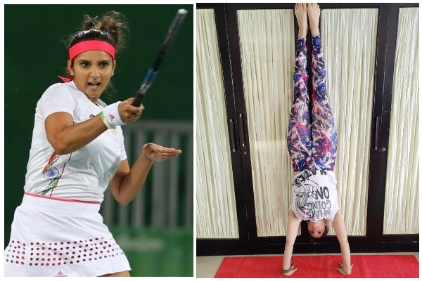 Sania Mirza Handstand