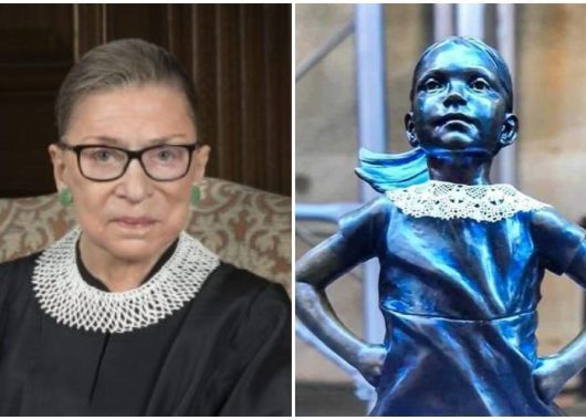 fearless-girl-wears-dissent-collar-as-a-tribute-to-ruth-bader-ginsburg
