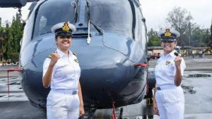 Women Officers Operate Helicopters