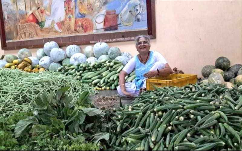 Sudha Murty, fact-check, Sudha Murty selling vegetables