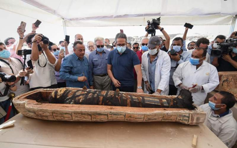 pharaohs curse coffin opening viral video