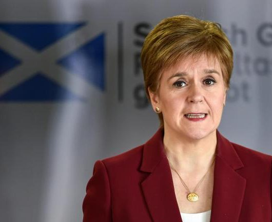 Nicola Sturgeon Mask, free sanitary products Scotland, free sanitary supplies Scotland