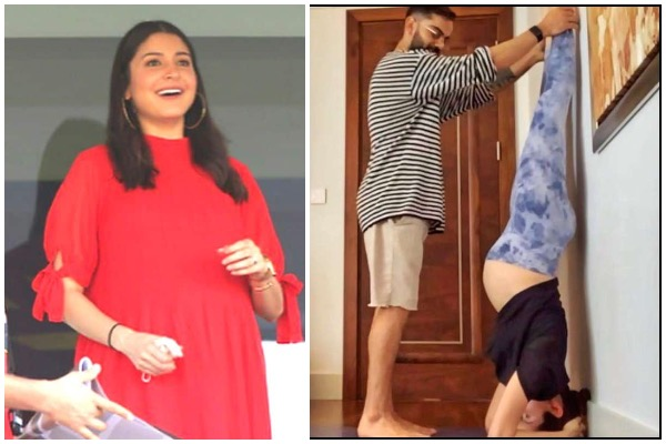Anushka Sharma performs Shirshasana