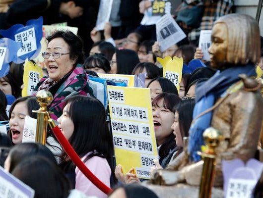 south korea orders japan to compensate WWII sex slaves