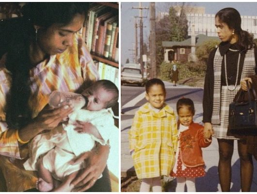 kamala harris shares childhood photos