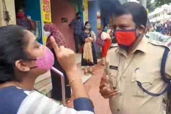 gowry nanda ,Female student stands up to police